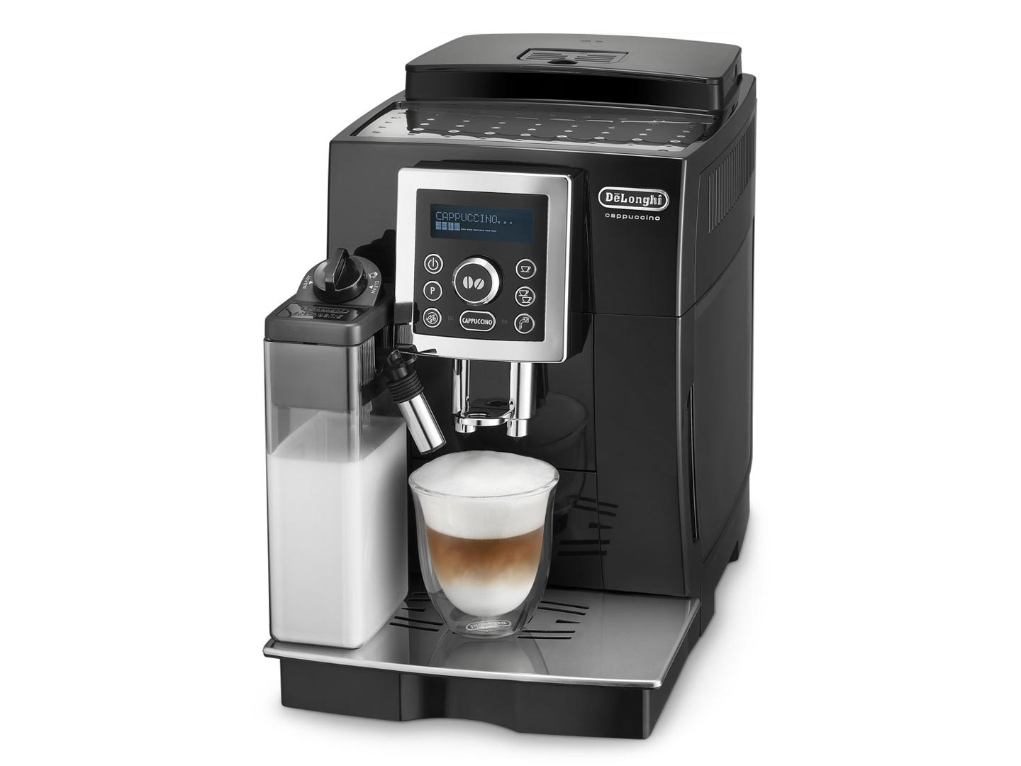 delonghi eletta cappuccino ecam 44 660 b zwart in de aanbieding kopen. Black Bedroom Furniture Sets. Home Design Ideas