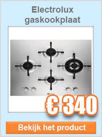 Electrolux gaskookplaat
