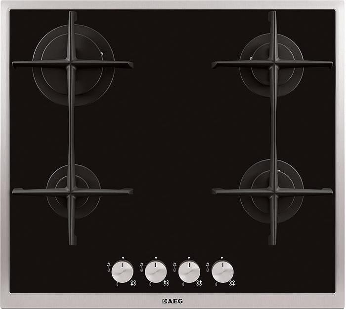 gas-op-glas kookplaat AEG HG694340XB